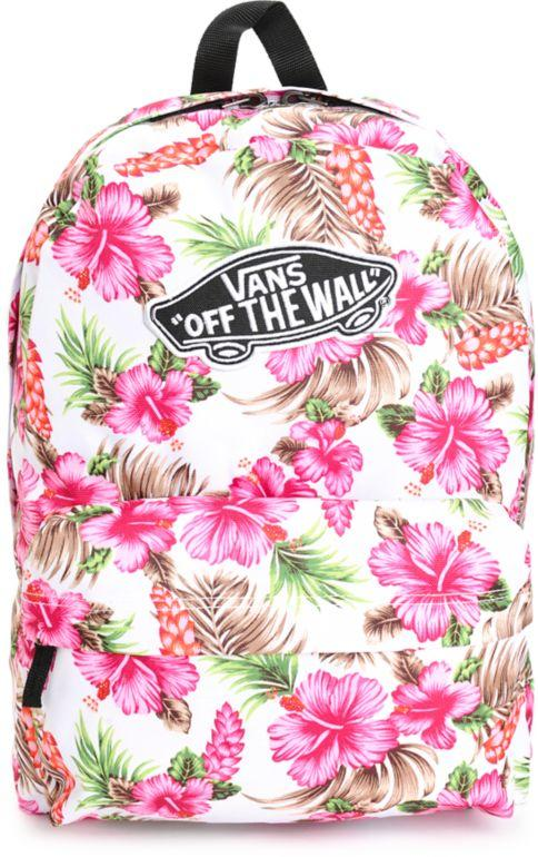 44ae49cc2f Vans Realm Hawaiian Natural Backpack from Zumiez