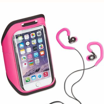 Polaroid Pink Armband And Earbuds Set