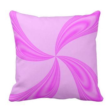 Shades of Pink Swirls Throw Pillow