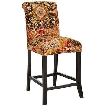 Angela Deluxe Counter Stool - Kantha Paisley