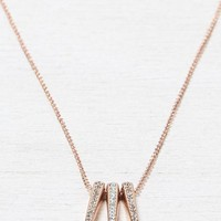 AEO Women's Rose Gold Spike Necklace (Rose Gold)