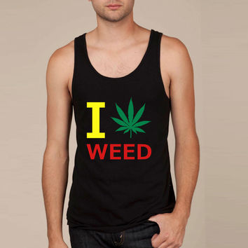 i love weed Tank Top