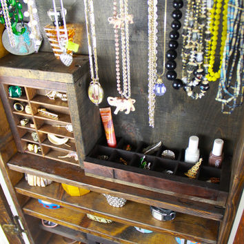 Jewelry Organizer made from upcycled materials ... Handmade by TangleandFold
