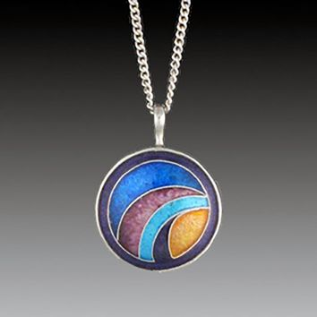All NEW Cloisonne Bande Bleue Pendant