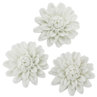 White Crysanthemum Gum Paste Flowers
