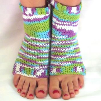 Crochet Yoga Socks, Exercise Apparel,  Dance/Gymnastic, Flip Flop Socks