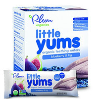 Plum Organics Baby Little Yums Teething Wafers, Blueberry and Fig, 3 Ounce
