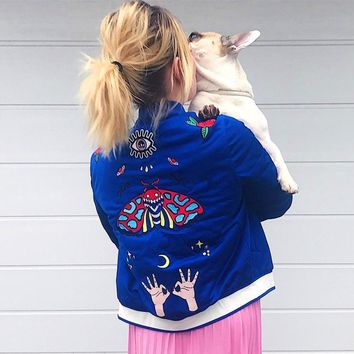 adidas Originals Embellished Arts Embroidered Bomber Jacket
