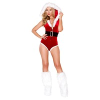 Sexy Secret Clause Holiday Romper