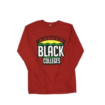 Originals Support Black Colleges Tour Longsleeve T-Shirt in Red