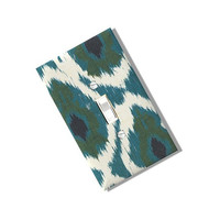 Peacock Ikat Light Switch Cover Plate Homemade Multi Toggle Kitchen Dining Home Decor Houseware Boho Shabby Chic Olive Teal