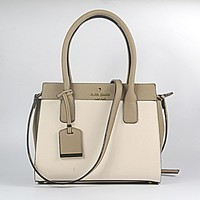 Hot Sale Kate Spade Fashion Shopping Leather Tote Handbag Shoulder Bag Color Off White