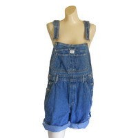 Women Denim Overall Shorts Denim Shortall Denim Bib Overall Short 90s Overall Jean Overall Over All Dungaree Salopette Calvin Klein Overall