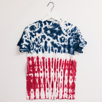 American Flag July 4th Tie Dye T-Shirt