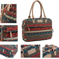 "Retro Bohemian 15"" 15.4"" 15.6"" Laptop Computer Shoulder Bag Notebook Handle Case"