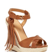 Madison Tassel Trim Wedge Sandal