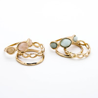 Moonstone stack ring