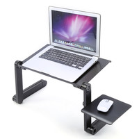 360 Degree Foldable Adjustable Laptop Desk Computer Table Stand Desk Bed Tray