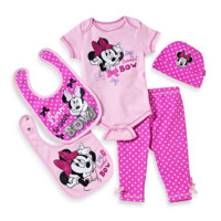 Minnie Mouse Beautiful Bow 5-Piece Gift Set in Pink Dot