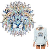 Colife Lion Patches Iron On Patches For Clothes A-level Washable DIY Decoration T-shirt Dresses 23.5*24cm Appliques