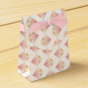 Geometric Rosy Pattern Wedding Favor Box