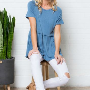 True Love Top - Vintage Blue