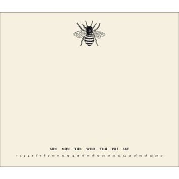 Bee Perpetual Mousepad Calendar, Non Dated Perpetual by Incredibly Charming