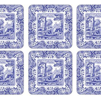 Spode Blue Italian Coasters, Set of 6