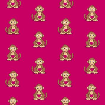 Monkey Love fabric - savousepate - Spoonflower