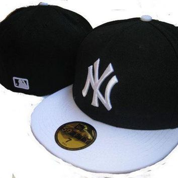 New York Yankees New Era Mlb Authentic Collection 59fifty Hats Black White