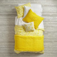 Full-Queen Go Lightly Quilt (Yellow)