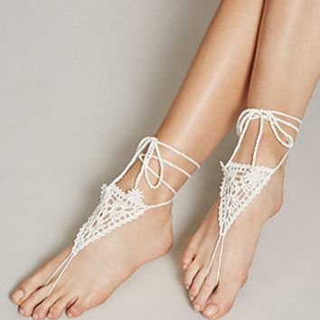 Crochet Foot Chain Set
