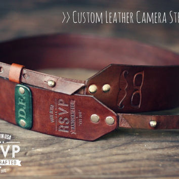 Custom Leather Camera Strap Handmade by RSVPhandcrafted on Etsy