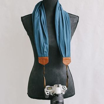 Woven Solid Scarf Camera Strap