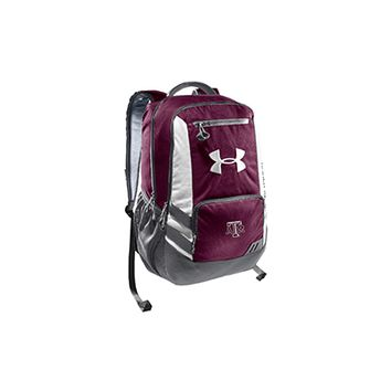 Texas A&M Aggie Under Armour hustle backpack.