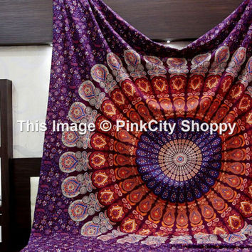 Indian Mandala tapestries, Hippie Wall Tapestries, Bohemian Wall Hanging, Wall Tapestries, Tapestry Wall Hanging, Boho Tapestries, Beach art