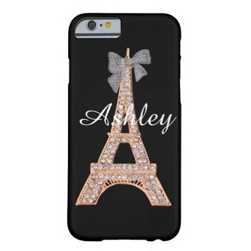 Elegant Diamond & Gold Eiffel Tower iPhone 6 case