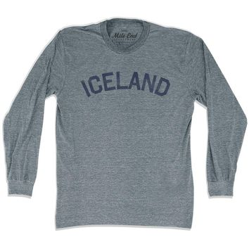 Iceland City Vintage Long Sleeve T-shirt
