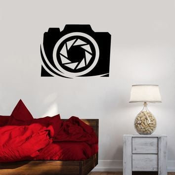 Vinyl Decal Photographer Art Photo Studio Camera Wall Stickers Mural Unique Gift (ig2696)