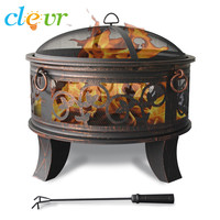 "Outdoor 26"" Metal Firepit Table Backyard Patio Garden Bon fire heater Pit"