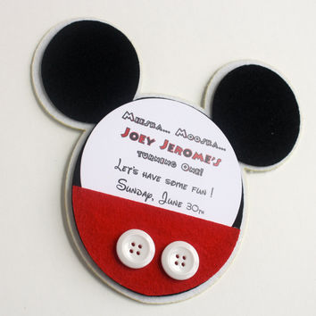 Mickey Mouse Boxed invitation