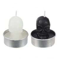 Black & White Skulls Tea Lights Set | Attitude Clothing