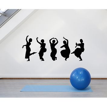 Vinyl Wall Decal Bayadere Indian Dance Hindu Woman Dancer Stickers Mural (g1643)