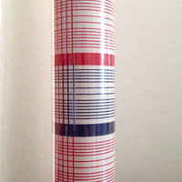 Vintage red, white and blue gift wrap