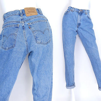 5595f79a46cd6 Sz 8 Levis 15951 High Waisted Mom Jeans - Vintage 80s 90s Tapere