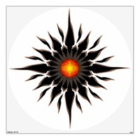 Flaming Tribal Sun Room Graphics