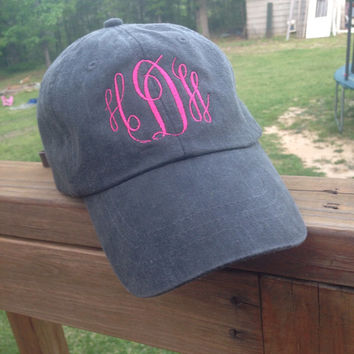 Vintage patched monogram hats & monogrammed hats, mothers day, monogram, baseball cap, soroity
