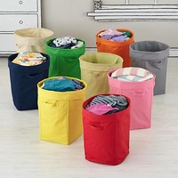 Kids' Storage Containers: Kids Colorful Foldable Canvas Hamper in Bins & Baskets | The Land of Nod