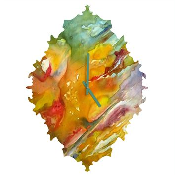 Rosie Brown Abstract 2 Baroque Clock