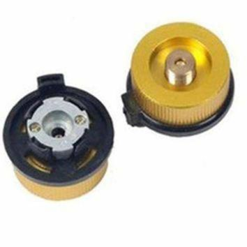 DCCK1IN aluminum split type camping stove auto off tank adapter conversion connector free ship